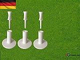 "FINGER TEN Golf Gummi Tee Driving Range Wert 3 Pack für Innen Draussen Übungsmatten, Tees Adapter Größe 1.5"" 2.0"""