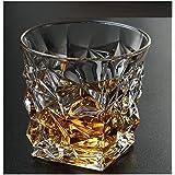 Mirakii Diamond Cut Whiskey Juice Water Glasses Lead-Free Crystal Glasses 285 Ml Scotch Tumblers, Set Of 6 Wine Glasses