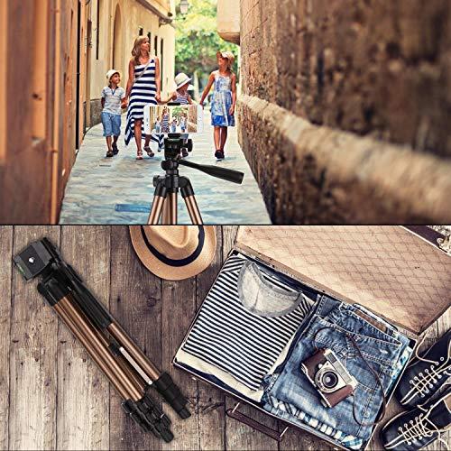 PEYOU Trépied Smartphone(106cm/42''),Trépied pour Caméra en Aluminium pour iphone,Samsung,Appareil Photo et 4
