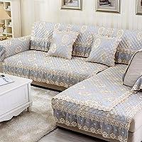 living camera divano lino cuscini/ semplice e moderna sede di quattro/Europeo antiscivolo in pelle pizzo divano telo di copertura-D 90x180cm(35x71inch)