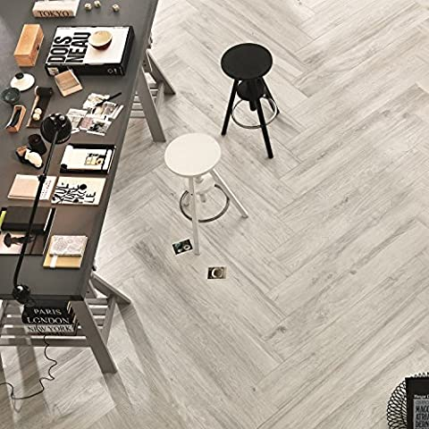 Italian Porcelain Wood Effect Rice Colour Wall & Floor Tiles 20Cm x 120Cm Rectified (Sample)