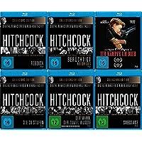 Alfred Hitchcock - frühe Klassiker 6 Blu-Ray Collection - Der Mann, der zuviel wusste + Rebecca + Ich kämpfe um Dich + Die 39 Stufen + Sabotage + Berüchtigt