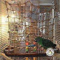 LA VIE Natural Living Neta de Escalada con Gancho para Pájaros Aves Cuerda Neta Columpio de Loros Percas de Pájaros Pet Bird Parrot Toy Swing Juguete de Masticar para Mascotas Pájaros como Loros Pericos Periquitos L