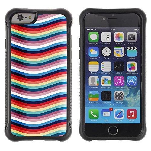 Graphic4You CHICKEN AND WAFFLES Muster Shockproof Anti-Rutsch Weichen Hülle Case Tasche Schutzhülle für Apple iPhone 6 Plus / 6S Plus Design #17