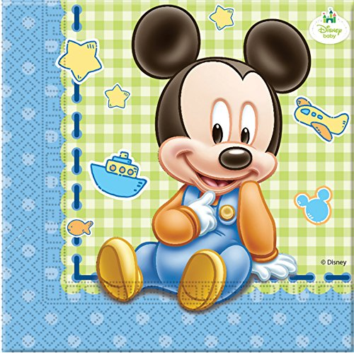 Disney Baby Mickey Mouse Papier Servietten, (Baby Supplies Party Mickey)