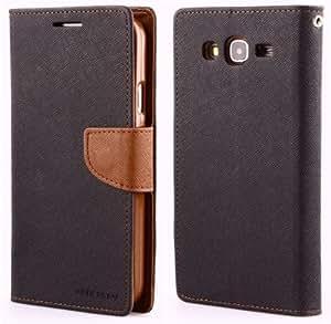 Mercury Goospery Wallet Flip Mobile Cover for Samsung Galaxy Mega 5.8 i9150 Black Brown