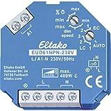 Eltako Universele dimschakelaar 230 V, Power MOSFET, ESL LED tot 400 W, 1 stuks, EUD61NPN-230 V, 400 W, blauw