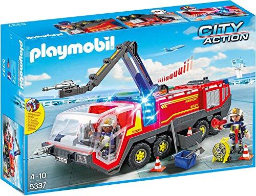 feuerwehr playmobil 5362 Playmobil 5337 - Flughafenlöschfahrzeug mit Licht und Sound