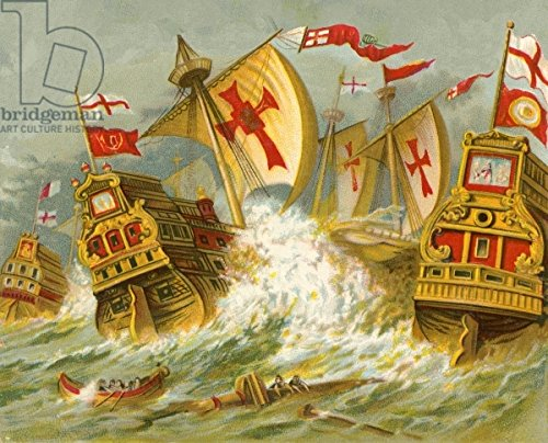 "Poster-Bild 40 x 30 cm: ""Defeat of the Spanish Armada"", Bild auf Poster"
