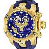 Invicta Montre à quartz pour homme avec cadran bleu chronographe Affichage et sangle en polyuréthane Bleu 14465