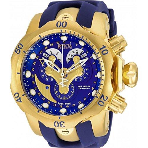 Invicta Herren Chronograph Quarz Uhr mit Polyurethan Armband 14465