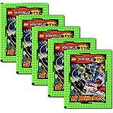 Panini - LEGO Ninjago Sticker 5 Booster Packungen Sammelsticker 25 Sticker - Deutsche Ausgabe
