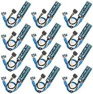الناشر PCI-E 12 قطعة من Ubit لالبيتكوين / Litecoin/ ETH عملة PCIe VER 006C 6 دبوس 16x إلى 1x محول محول الناشر