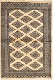 CarpetVista Pakistan Buchara 2ply Teppich 120x184 Orientalischer Teppich