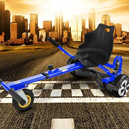 "Viron Hoverkart mit LED-Beleuchtung für Hoverboard E-Scooter Hover Seat GoKart Self Balance Scooter Sitz (6,5"" / 8,0\"" / 10\"") verstellbar (blau)"