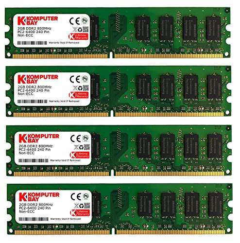 Komputerbay DIMM Speichermodule (8 GBà 4x 2GB, 240 Pin, 800MHz, PC2 6400/6300 DDR2) -