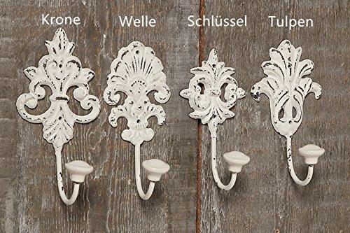 Wandhaken Haken Nostalgie Metallhaken Garderobe chic vintage weiss 4429000 (Schlüssel )