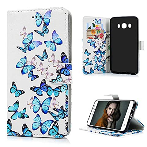 J5 2016 Leather Case J5 2016 Wallet Case KASOS Premium PU Leather Inner TPU Bumper Front Closure Cash&Card Slots Change Pouch Pocket Kicktand Cradle Flip Wallet Purse Leather Cover Shell Folio Notebook Design Magnetic Lock Protective Skin for Samsung Galaxy J5 2016