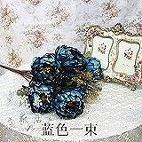 Der Kern Pfingstrose Jasmin Tee Rose Bud Seide Heimtextilien Pailletten falsche Wohnzimmer dekorative Blumen, 48 * 9 cm, H
