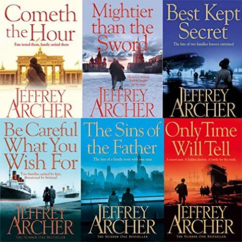 Jeffrey Archer Clifton Chronicles 6 Books Set Collection (Cometh the Hour,Mightier than the Sword,Be Careful What You Wish For,Only Time Will Tell,The Sins Of The Father,Best Kept