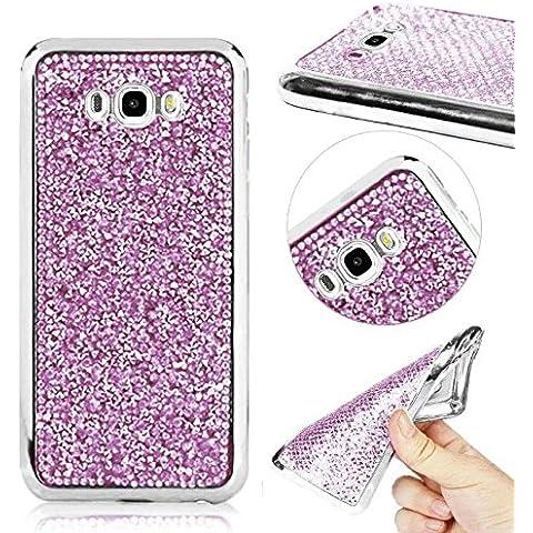 momdad teléfono accesorios para Samsung Galaxy J52016Funda Carcasa Suave TPU Silicona Ultra delgado carcasa de protección anti scratch parachoques, Bing-Purple, Samsung Galaxy J5 2016