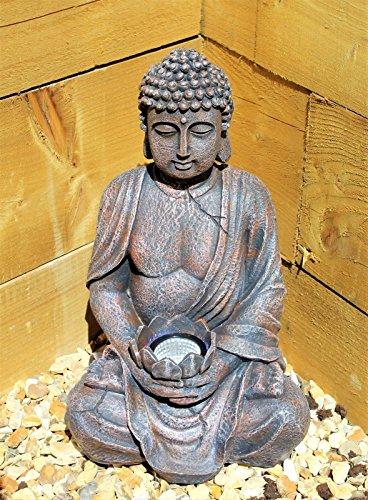 Estatua de Buda con energía solar para el aire...