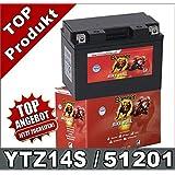 Batterie Nitro Ytz14s Gel 12v 11 2ah Maße 150x87x110 Für Yamaha Xv950 Baujahr 2017 Auto