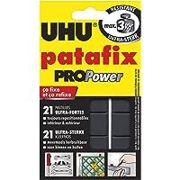 UHU Patafix Propower, Pasta da fissare, Pastiglie pretagliate ultra forti (fino a 3 kg) e riposizionabili, 21 pastiglie…