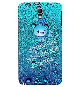 Fuson Premium Drop Of Ocean Printed Hard Plastic Back Case Cover for Samsung Galaxy Note 3 Neo N7505