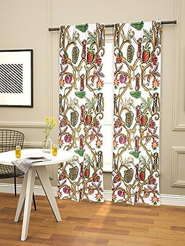 (cc-07) SD Stoffe® Handgefertigte Luxus-Stickwolle Hand Designer Vorhang, bestickt 100% reine Baumwolle Stoff mit Wolle Jacobean Hand Stickerei für Modern Living & Decor