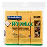 Kimtech Glass and Surface Wiping Cloth, Microfibre, Yellow, (Pack of 6, Set of 4) KCC-83610 by Kimberly-Clark