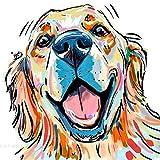 LoveMyHome 5D Diy Diamond - Kit de pintura para bordado de diamante, pintura pasada con diamantes de imitación y punto de cruz con mosaico – con diamante cuadrado completo y herramienta de maquillaje – pintura de graffiti – perro, 40 x 40 cm