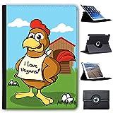 Huhn mit I Love Vegans Case Cover / Folio aus Kunstleder für das Apple iPad Pro 9.7