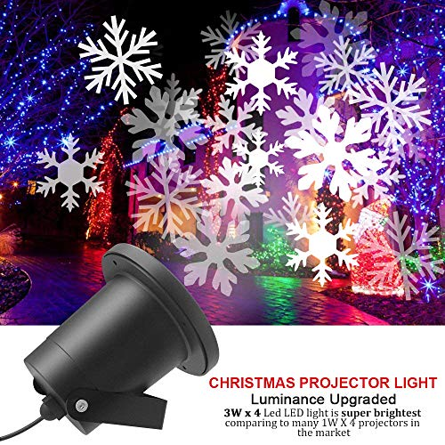 (CYCMIA Wasserdichte außen LED Weihnachtsbeleuchtung, 20m x 20m breite Lichtabdeckung, keine störenden Kabel oder Glühbirnen (Snowflake light))
