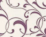 Excel Wallpapers, Style FLORAL, Paperback -CREAM & VIOLET- 57 SQFT ( Ideal for Bedroom, Kids room) - Made In Germany