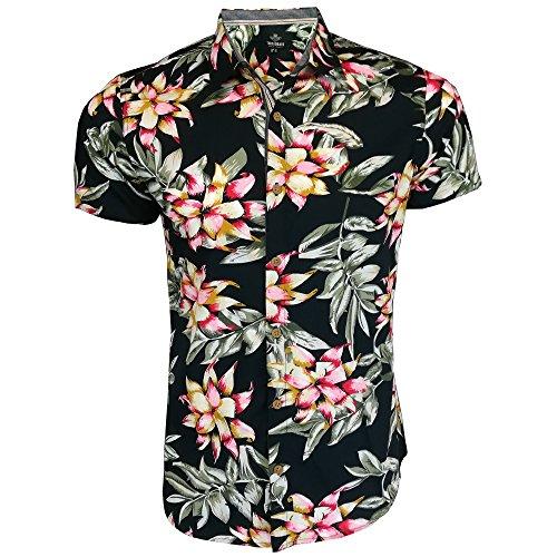 Threadbare Mens Hawaii Shirt Floral Print Short Sleeved Beach Holiday Summer New
