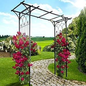 Jago arche arceau de jardin droit hauteur 204 cm support - Arceau de jardin pour plantes grimpantes ...