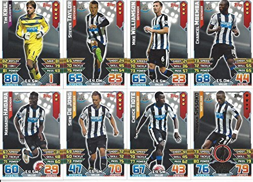 Match Attax 2015/2016 Newcastle United Team Base Set Plus Star Player, Captain & Away Kit Cards 15/16 by Match Attax -