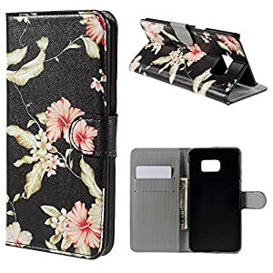"Beautiful Cute Wallet Leather Protective Case Flip Cover For Samsung Galaxy S6 Edge Plus 5.7"" - Beautiful Flowers"