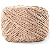4mm 328 Feet Natural Jute Twine LOOMY Arts and Crafts Jute Rope Industrial Packing Twine for DIY Crafts,Gardening Applications,Nursery Construction,Rustic Brown
