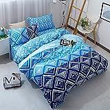 Die besten Gemütliche Bettwäsche Tröster Sets - Bettbezug Set, Morbuy Geometrische Streifen Muster 3 Teilig Bewertungen
