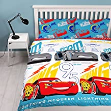 "Disney Cars 3Repeat diseño de impresión ""Lightning edredón conjunto, multicolor, doble"