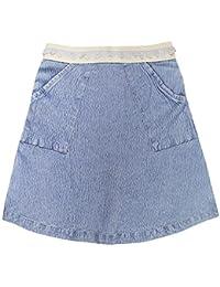ShopperTree Light Blue Solid Skirt for girls
