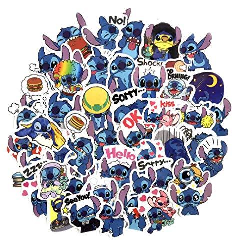SetProducts ⭐Top Aufkleber ! ⭐ Set von 49 Kleine Aufkleber Lilo Und Stitch - Premium Qualität - Vinyls Stickers Nicht Vulgär Lilo & Stitch - Stil, Bombe, Graffiti - Anpassung Laptop, Scrapbooking -