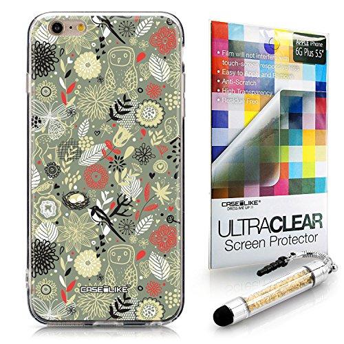 CASEiLIKE Comic Beschriftung 2914 Ultra Slim Back Hart Plastik Stoßstange Hülle Cover for Apple iPhone 6 / 6S Plus (5.5 inch) +Folie Displayschutzfolie +Eingabestift Touchstift (Zufällige Farbe) 2243