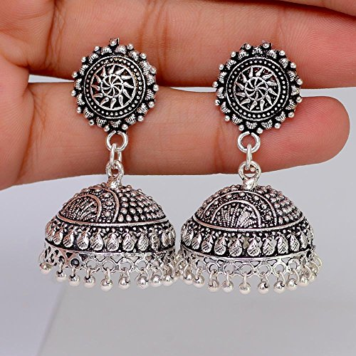 Jaipur-Mart-Jhumki-Earrings-for-Women-SilverGSE539SLV