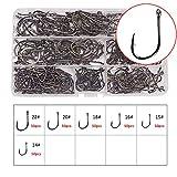 Dingbear 300pcs(14#,15#,16#,18#,20#,22#) Standard Hook Militär Stahl Angelhaken Fisch Haken Haken für Fisch Haken