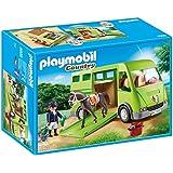 Playmobil - Horse Box Transporte de Caballo, color verde, gris (6928)