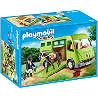 Playmobil Horse Box Transporte de Caballo, Color Verde, Gris (6928)