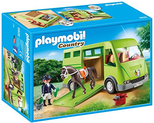 PLAYMOBIL Country Transporte Caballo Holstein Jinete
